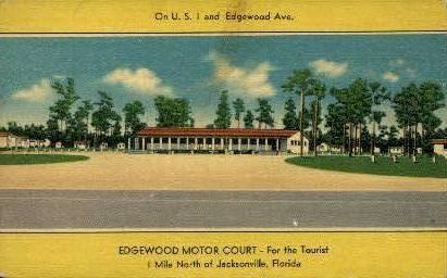Edgewood Motor Court - Jacksonville, Florida FL Postcard