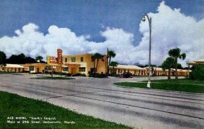 Ace motel - Jacksonville, Florida FL Postcard