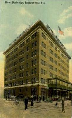 Burbridge Hotel - Jacksonville, Florida FL Postcard