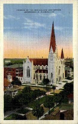 Immaculate Conception - Jacksonville, Florida FL Postcard