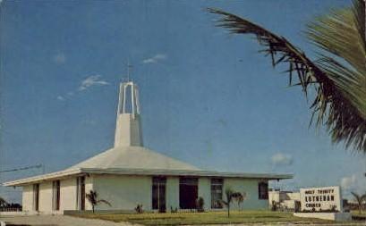 Holy Trinity Lutheran Church - Key West, Florida FL Postcard