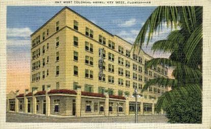Colonial Hotel Courts - Key West, Florida FL Postcard