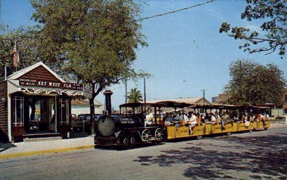Depot and Conch Tour Train - Key West, Florida FL Postcard