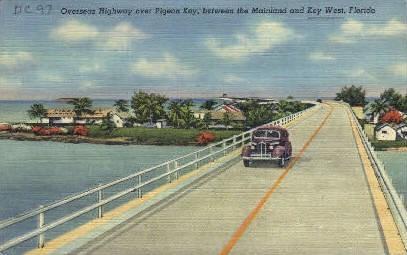 Overseas Highway - Key West, Florida FL Postcard