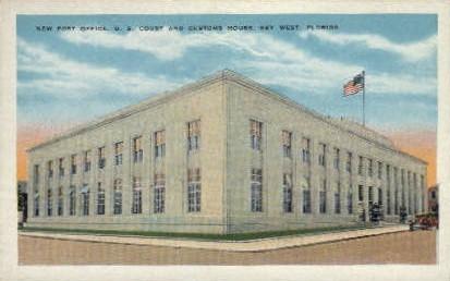 Post Office - Key West, Florida FL Postcard