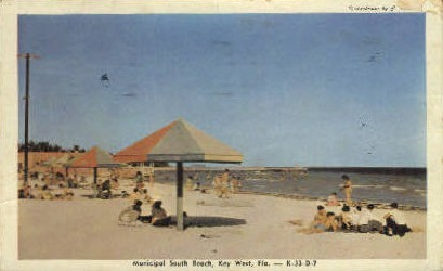 Municipal South Beach - Key West, Florida FL Postcard