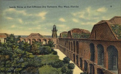 Old Fort Jefferson - Key West, Florida FL Postcard