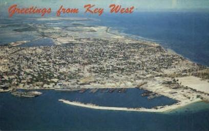 Naval Base - Key West, Florida FL Postcard