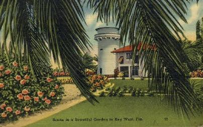Garden - Key West, Florida FL Postcard