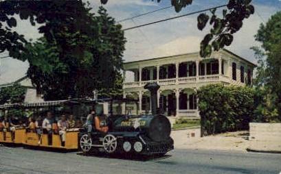 Conch Tour Train - Key West, Florida FL Postcard
