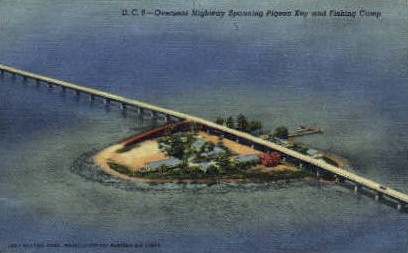 Fishing Camp - Key West, Florida FL Postcard