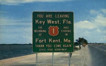 Fort Kent - Key West, Florida FL Postcard