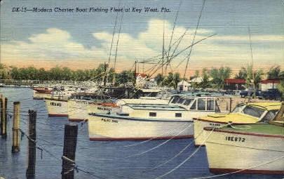 Modern Charter Boat - Key West, Florida FL Postcard