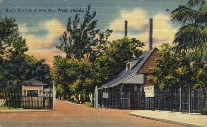 Navy Yard - Key West, Florida FL Postcard