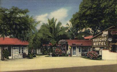 Rancho Motel - Key West, Florida FL Postcard