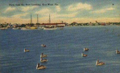 Boat Landing - Key West, Florida FL Postcard