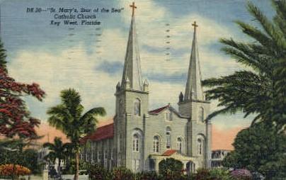 St. Mary's Catholic Church - Key West, Florida FL Postcard