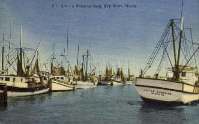 Shrimp Boats - Key West, Florida FL Postcard