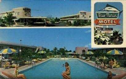Blue Marlin Motel - Key West, Florida FL Postcard