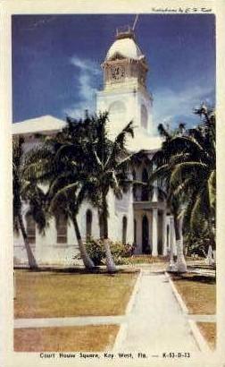 Court House - Key West, Florida FL Postcard