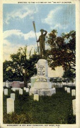Maine Disaster Monument - Key West, Florida FL Postcard