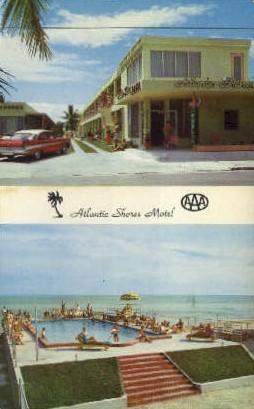 Atlantic Shore Motel - Key West, Florida FL Postcard