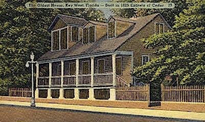 Oldest House - Key West, Florida FL Postcard