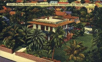 Ernest Hemingay's Home - Key West, Florida FL Postcard