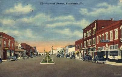 Business Section - Kissimmee, Florida FL Postcard