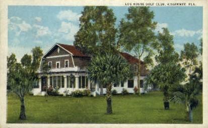 Log House Golf Club - Kissimmee, Florida FL Postcard