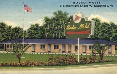 Rodeo Motel - Kissimmee, Florida FL Postcard