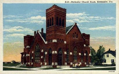 Methodist Church - Kissimmee, Florida FL Postcard