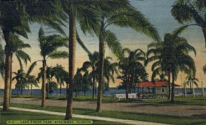 Lake Front Park - Kissimmee, Florida FL Postcard