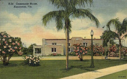 Community House - Kissimmee, Florida FL Postcard