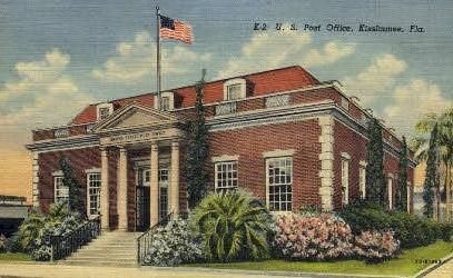 Post Office - Kissimmee, Florida FL Postcard