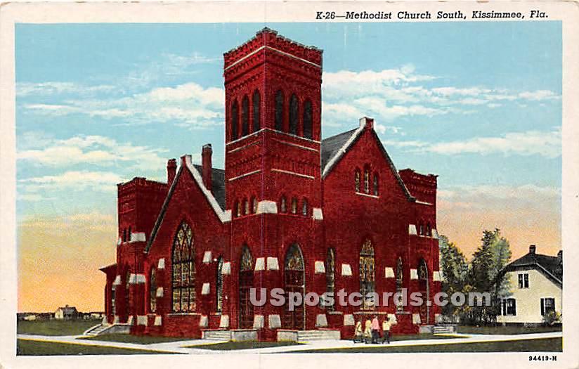 Methodist Church South - Kissimmee, Florida FL Postcard