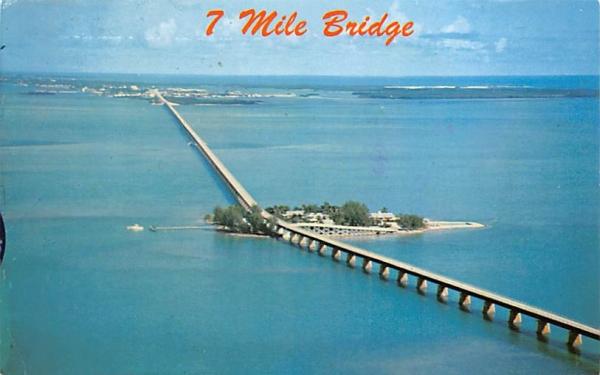 7 Mile Bridge Keys, Florida Postcard