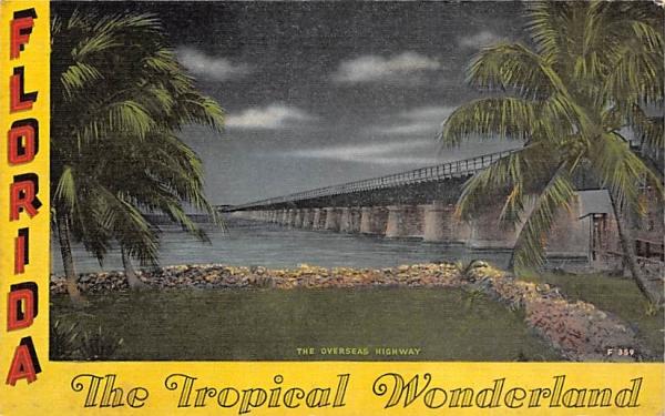 Keywest connect Miami, The Tropical Wonderland Florida Postcard