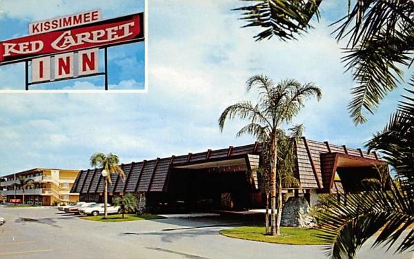 Kissimmee Red Carpet Inn Florida Postcard