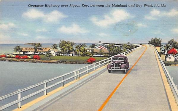 Pigeon Key Between Mainland, Key West, FL, USA Keywest, Florida Postcard