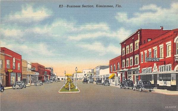 Business Section Kissimmee, Florida Postcard