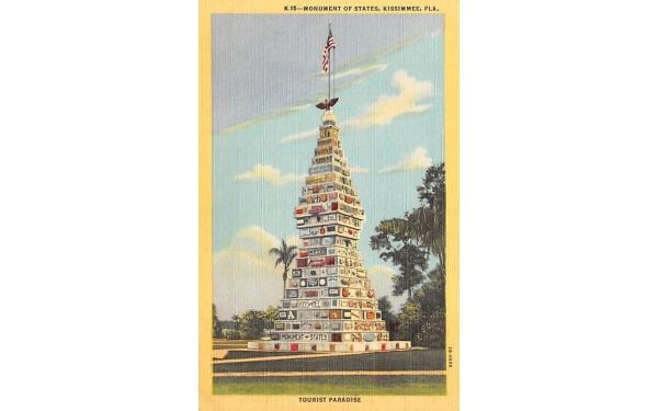 Monument of States Kissimmee, Florida Postcard