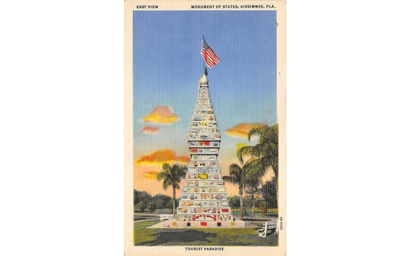 East View, Monument of States Kissimmee, Florida Postcard