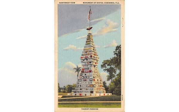 Monument of States, Northwest View Kissimmee, Florida Postcard