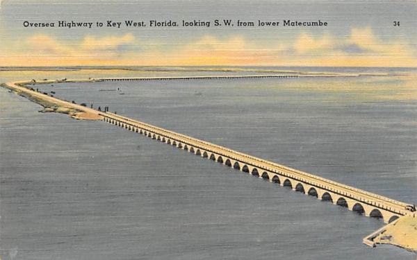 Overseas Highway to Key West. FL, USA Keywest, Florida Postcard