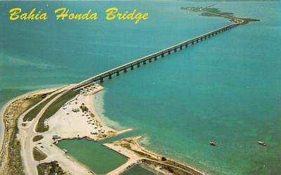 Bahia Honda Bridge Key West, Florida Postcard