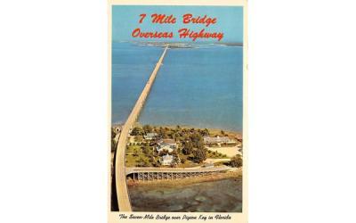 7 Mile Bridge Overseas Highway Key West, Florida Postcard