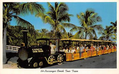 64-Passenger Conch Tour Train Key West, Florida Postcard