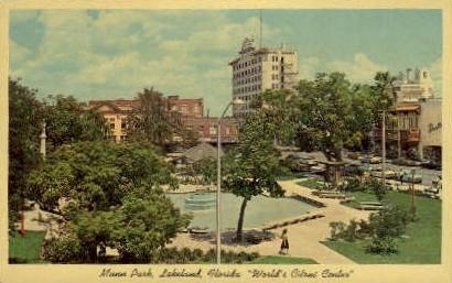 Munn park - Lakeland, Florida FL Postcard
