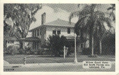 Wilson Guest House - Lakeland, Florida FL Postcard